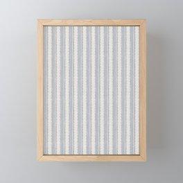 Seamless french farmhouse woven linen stripe texture.  Framed Mini Art Print