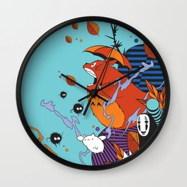 Totoro's Friends Wall Clock