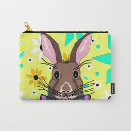 Springtime Bunny - Happy Easter Carry-All Pouch