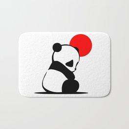Shy Panda in the Red Sun Bath Mat