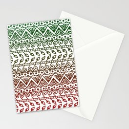 Holiday Henna Pattern Stationery Cards