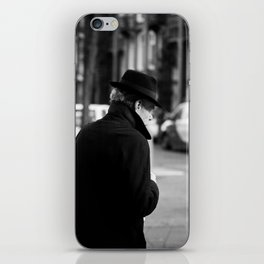 The Man in the Trench Coat iPhone Skin