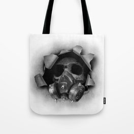 Gas Mask Skull Tote Bag