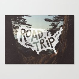 Road Trip USA - big sur Canvas Print