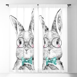 Bunny with Bowtie Blackout Curtain