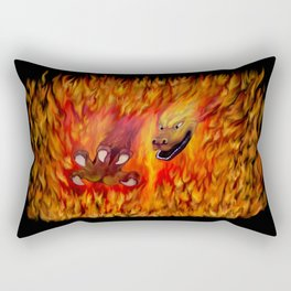 Red Dragon Claw in flames Rectangular Pillow