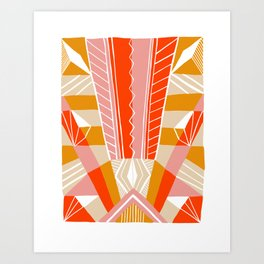 salida, woven rug pattern Art Print