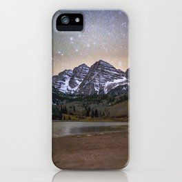 Stars over the Maroon Bells iPhone Case