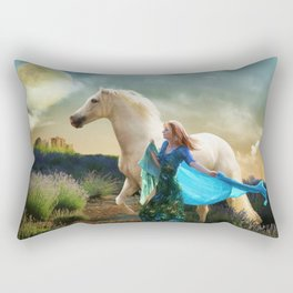 Lady in Blue - Spirit Connection Rectangular Pillow