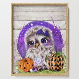 Sweet Halloween Owl Serving Tray