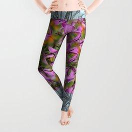 PASTEL PURPLE FLOWER  Leggings