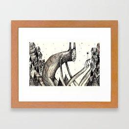 Forest Meeting   Framed Art Print