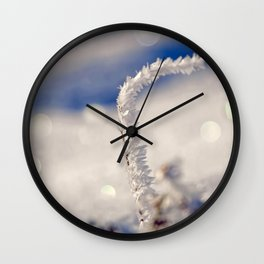 Sparkling hoar frost I Winter Snow Ice Sun Wall Clock