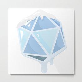 Icy d20 Metal Print