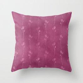 Magenta Floral  Throw Pillow