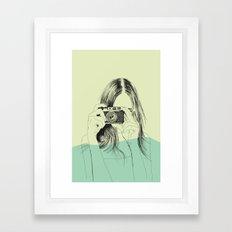 Woman Color 11 Framed Art Print