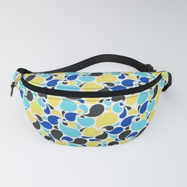 Blue and yellow paisley Fanny Pack