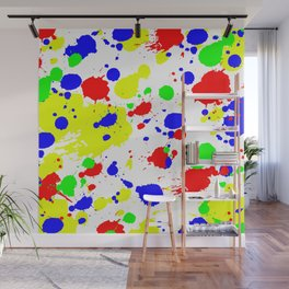 Colorful Paint Splatter. Wall Mural