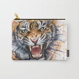 Tiger Roaring Wild Jungle Animal Carry-All Pouch