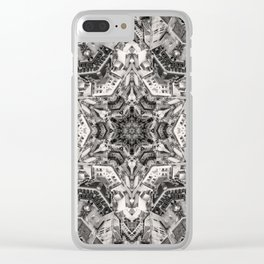 Structural Sepia City Clear iPhone Case