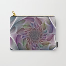 3D Fractal Colorful Depth Carry-All Pouch