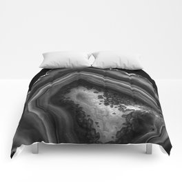 Black Night Agate Glam #1 #gem #decor #art #society6 Comforters