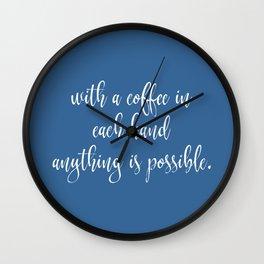 Funny Coffee Sayings Wall Clock