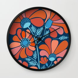 Flower Power IV Wall Clock