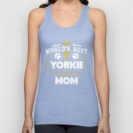 World's Best Yorkie Mom Unisex Tank Top