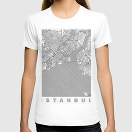 Istanbul Map Line T-shirt