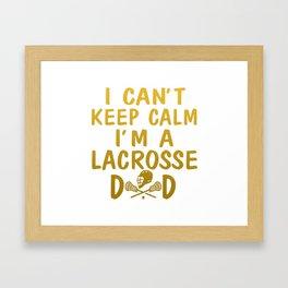 I'M A LACROSSE DAD Framed Art Print