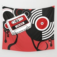 hiphop Wall Tapestries featuring Retro by Square Lemon