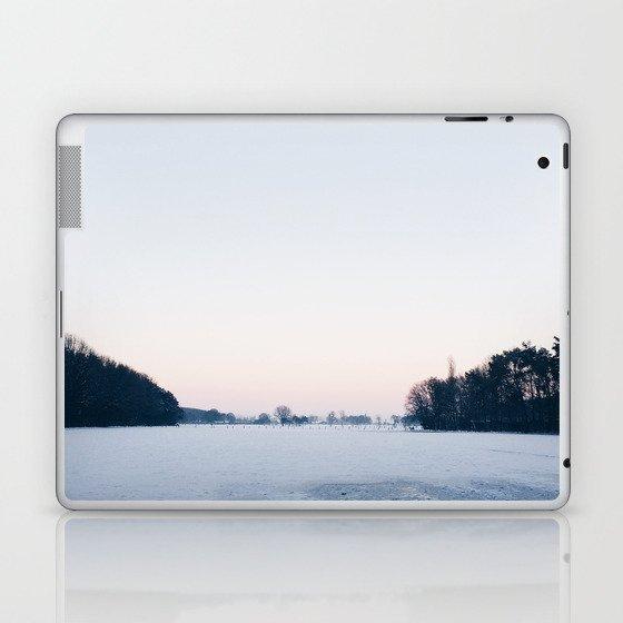 Snow: A Winter Sunset Full of Pink, White & Blue Laptop & iPad Skin