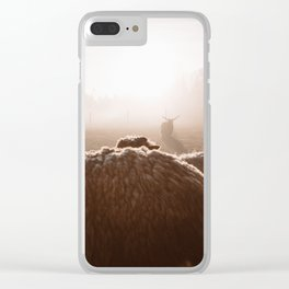 I saw a devil today :) Clear iPhone Case