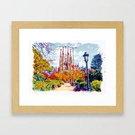 La Sagrada Familia - Park View Framed Art Print