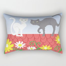 Cats on the roof Rectangular Pillow
