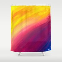skyfall Shower Curtains featuring Skyfall by Sierra Christy Art
