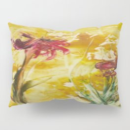 Abstract Red Poppies From Original Encaustic Art Pillow Sham