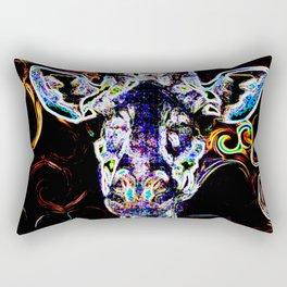 Closeup Neon Rectangular Pillow