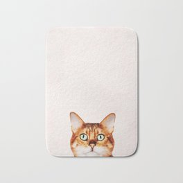 Cute Cat Stare Bath Mat