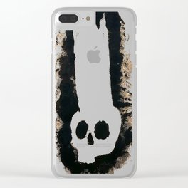 Crowned Skull Print Clear iPhone Case