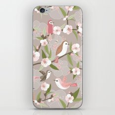 Blossom and birds iPhone & iPod Skin