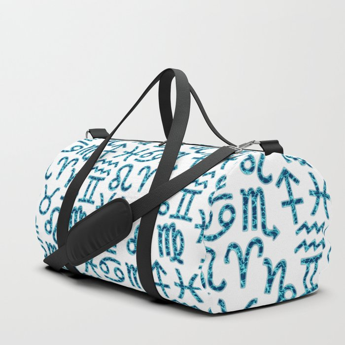 Zodiac signs background. Horoscope symbols. Astrology backgroundZodiac signs background. Horoscope s Duffle Bag