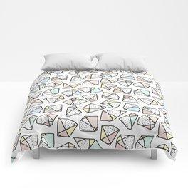 Polygonal stones and gemstones Comforters