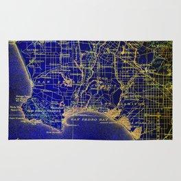 San Pedro Bay OLD MAP 1904, united states vintage maps Rug