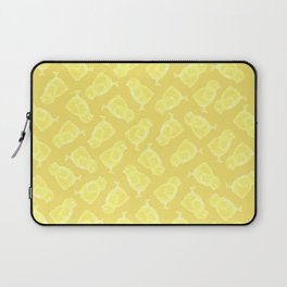 Yellow Easter chicken pattern Laptop Sleeve