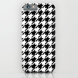 Houndstooth Large Wobbly Pattern iPhone Case