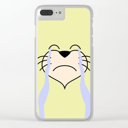 Cat Face 03 Design 02 Clear iPhone Case
