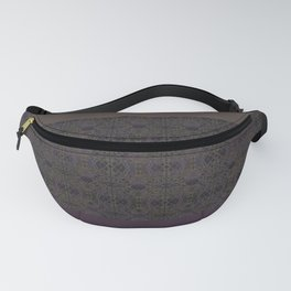 Brown purple patchwork Fanny Pack