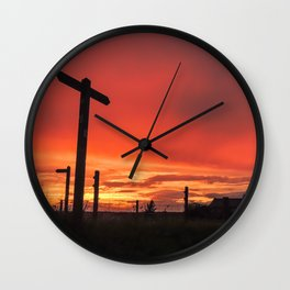 Signs for Sunset Wall Clock
